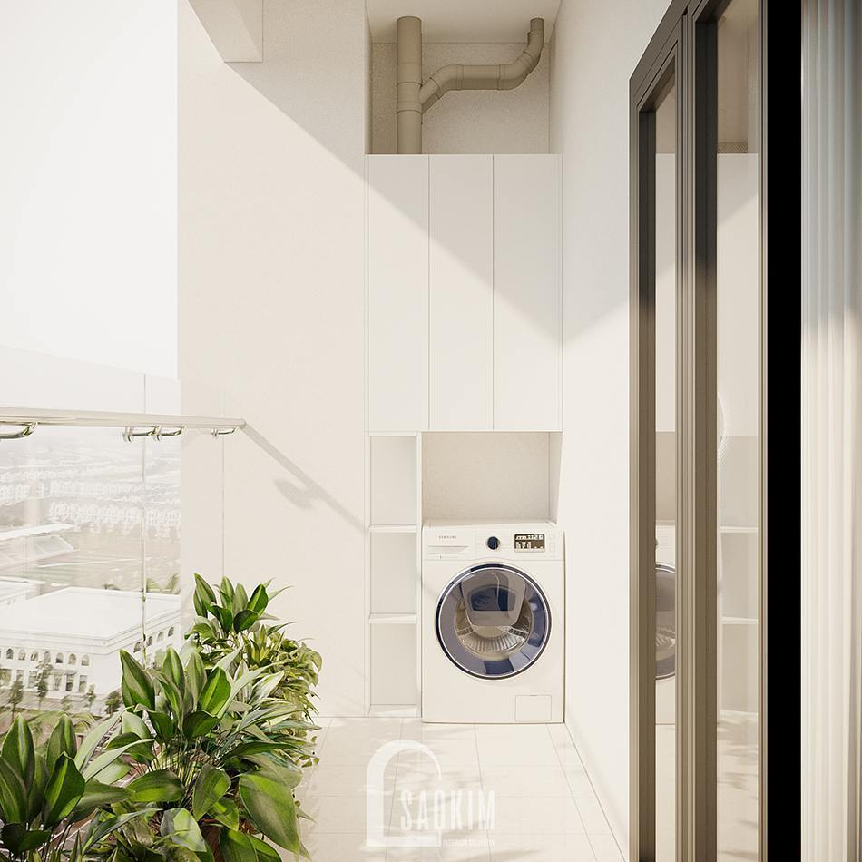 Thiết kế ban công chung cư 100m2 3 phòng ngủ dự án TSQ