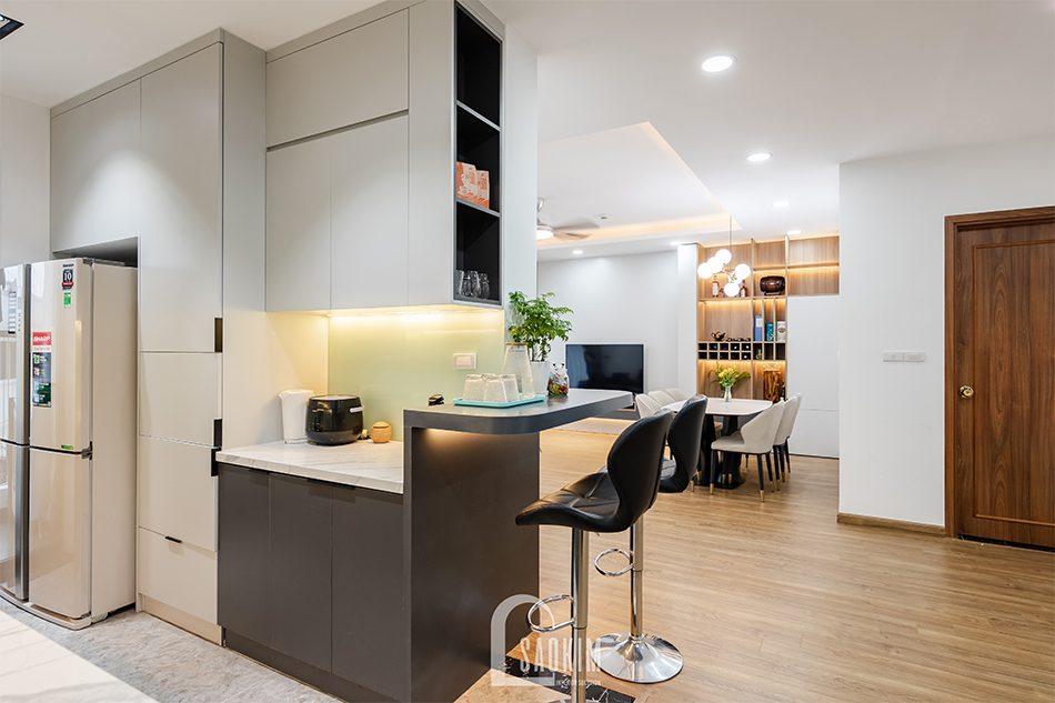 Thiết kế thi công phòng bếp chung cư Iris Garden hiện đại