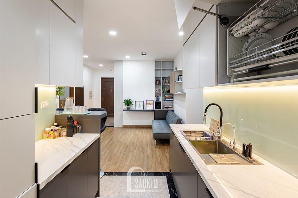 Thiết kế thi công phòng bếp chung cư theo phòng cách hiện đại