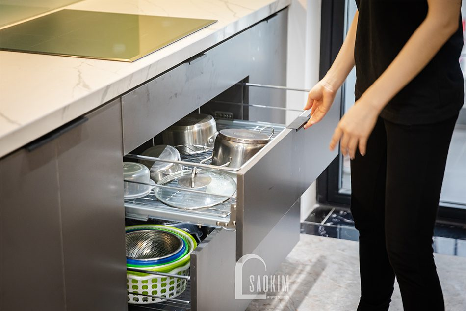 Phụ kiện thông minh cho tủ bếp