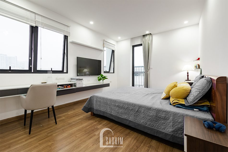 Thiết kế thi công nội thất phòng ngủ master chung cư Iris Garden