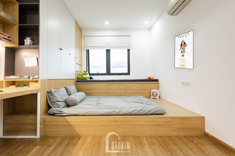 Thiết kế thi công phòng ngủ bé gái chung cư Iris Garden mang vẻ đẹp tinh tế