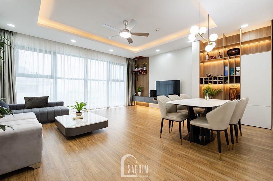 Không gian mở giúp căn hộ trở nên rộng thoáng