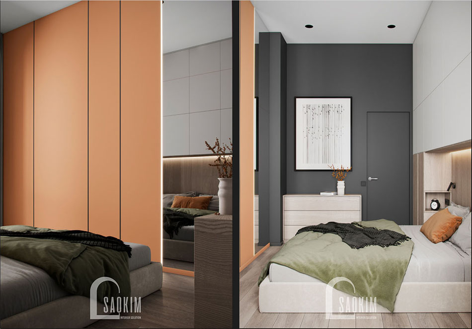 Thiết kế nội thất phòng ngủ chung cư The Terra An Hưng theo phong cách hiện đại