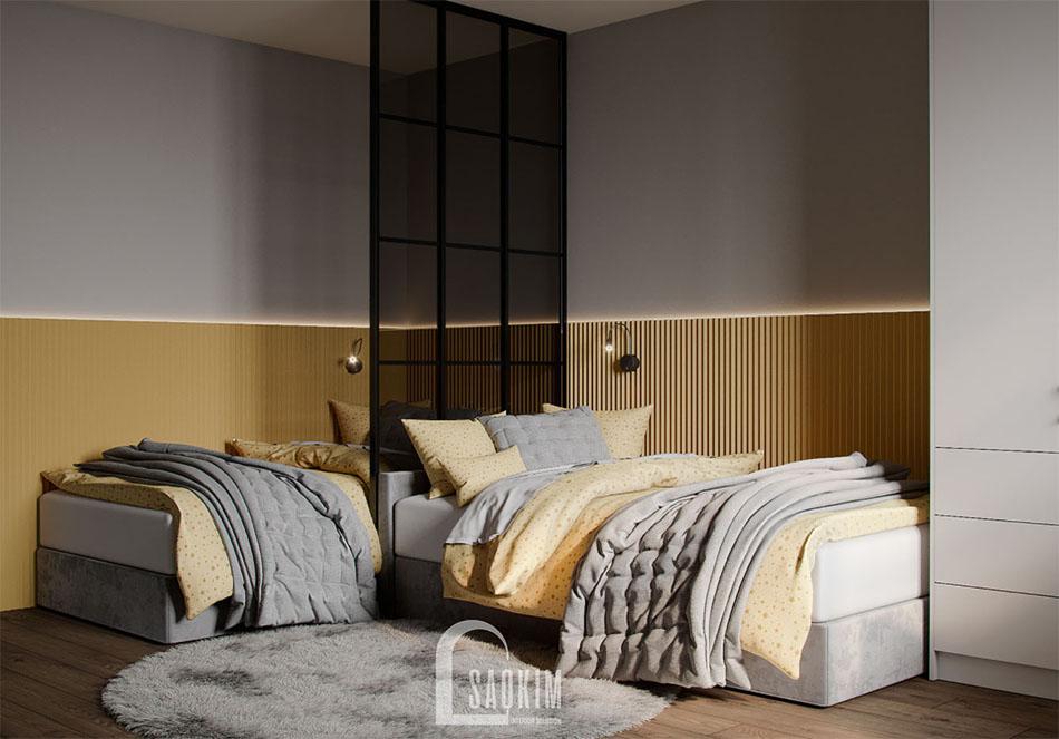 Thiết kế phòng ngủ cho bé chung cư đẹp The Terra An Hưng theo phong cách hiện đại
