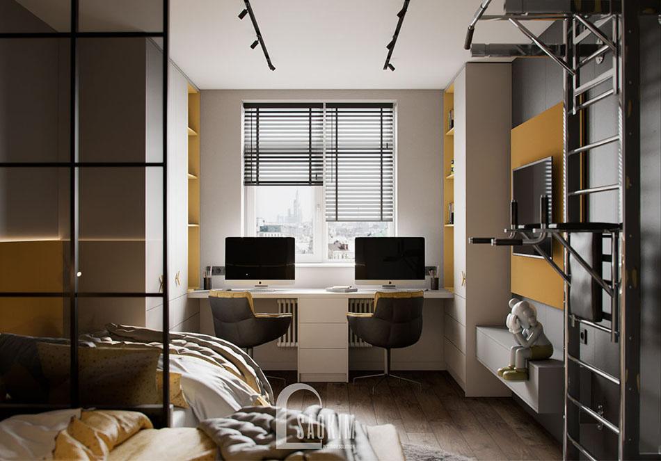 Thiết kế nội thất phòng ngủ cho bé chung cư The Terra An Hưng