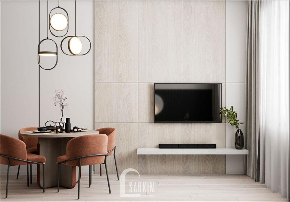 Thiết kế phòng khách chung cư The Terra An Hưng theo phong cách hiện đại