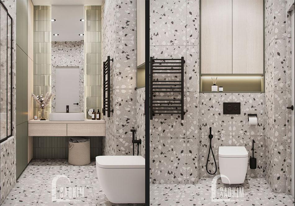 Thiết kế phòng tắm chung cư The Terra An Hưng theo phong cách hiện đại