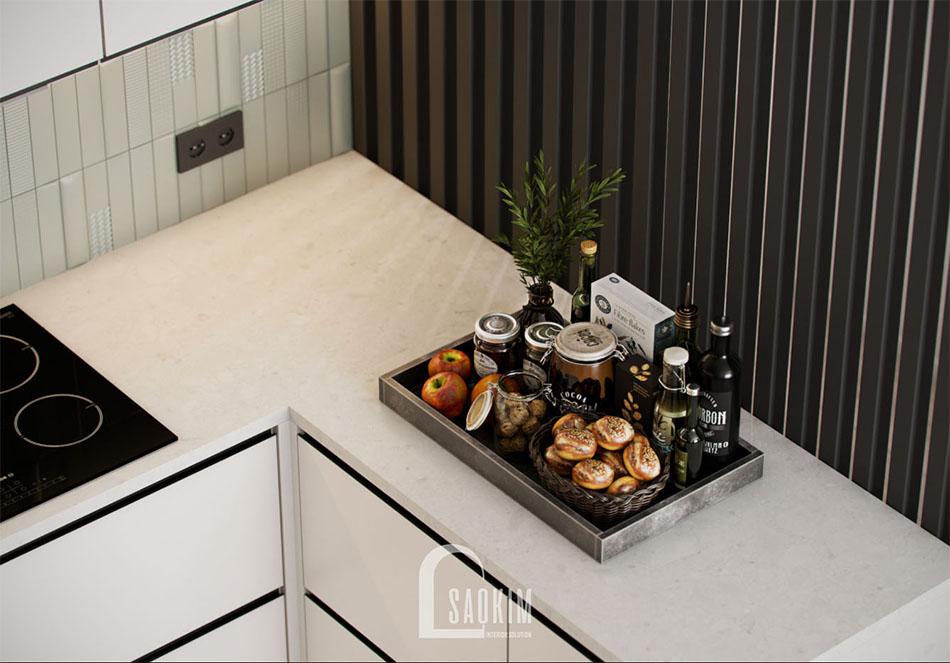 Thiết kế phòng bếp chung cư đẹp The Terra An Hưng theo phong cách hiện đại