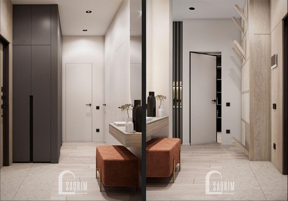 Thiết kế hành lang chung cư đẹp The Terra An Hưng theo phong cách hiện đại