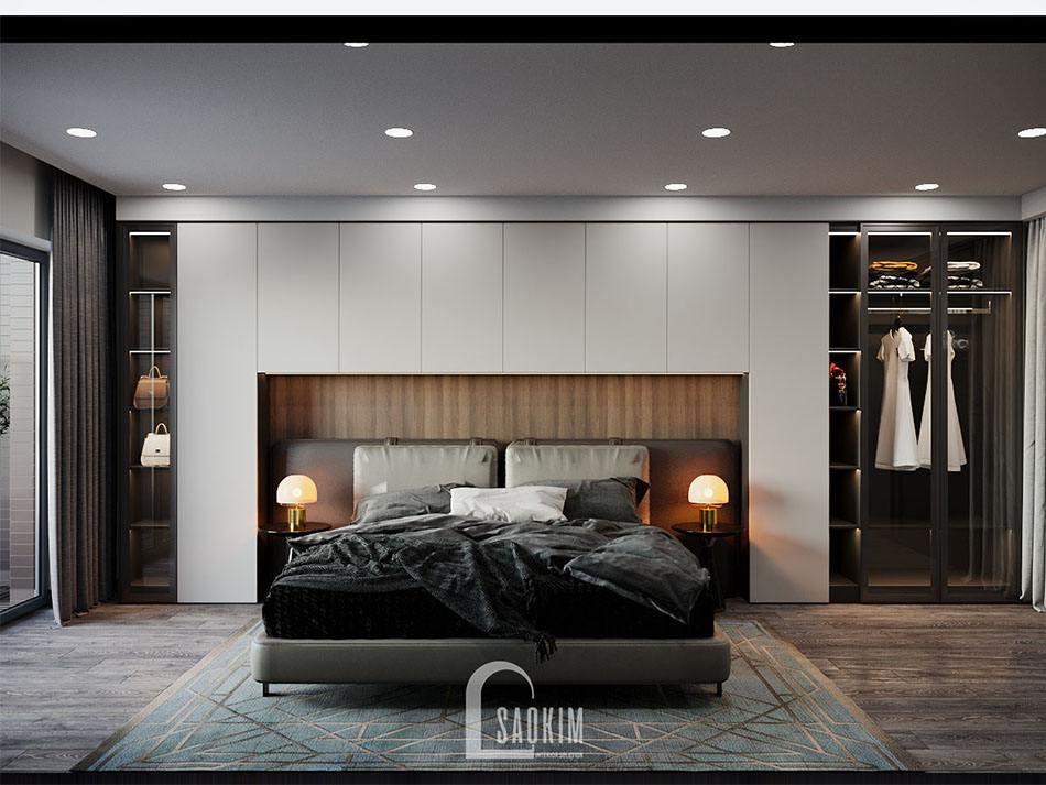 Phòng ngủ master thiết kế nội thất chung cư cao cấp