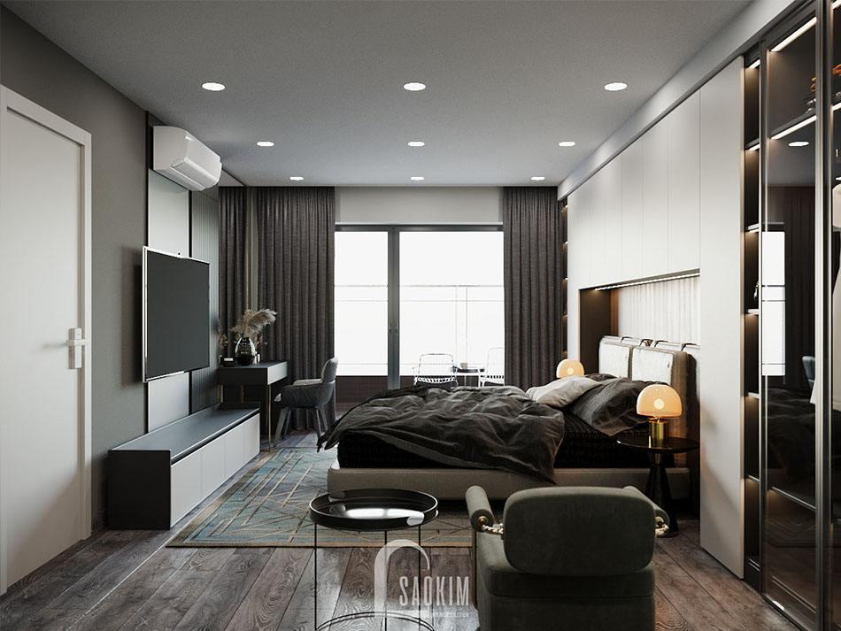 Thiết kế phòng ngủ master căn hộ chung cư cao cấp TTTM Chợ Mơ