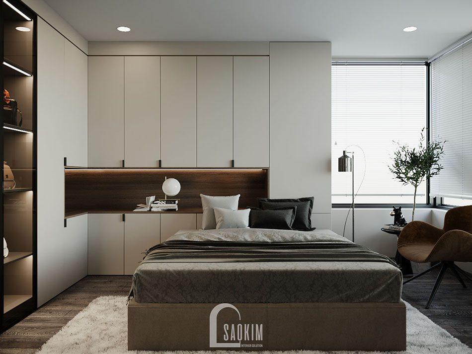 Phòng ngủ cho bà với thiết kế hiện đại, cùng gam màu ấm cúng