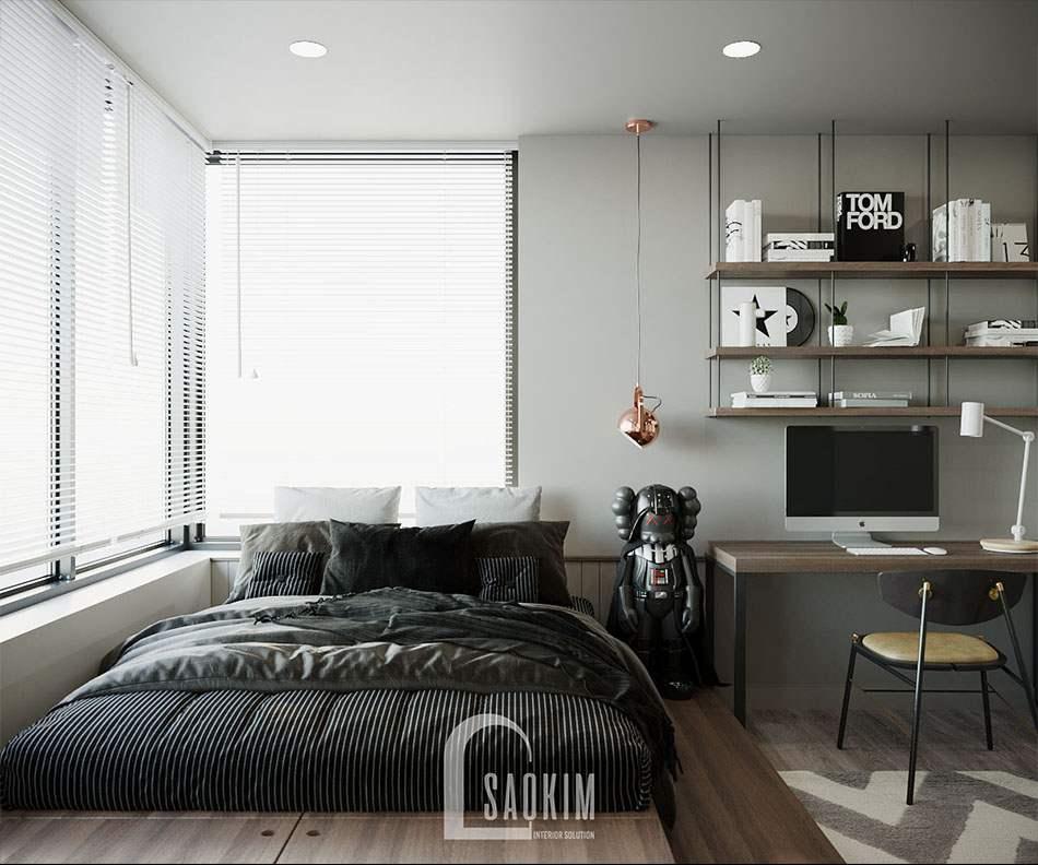 Phòng ngủ bé trai thiết kế năng động, cá tính