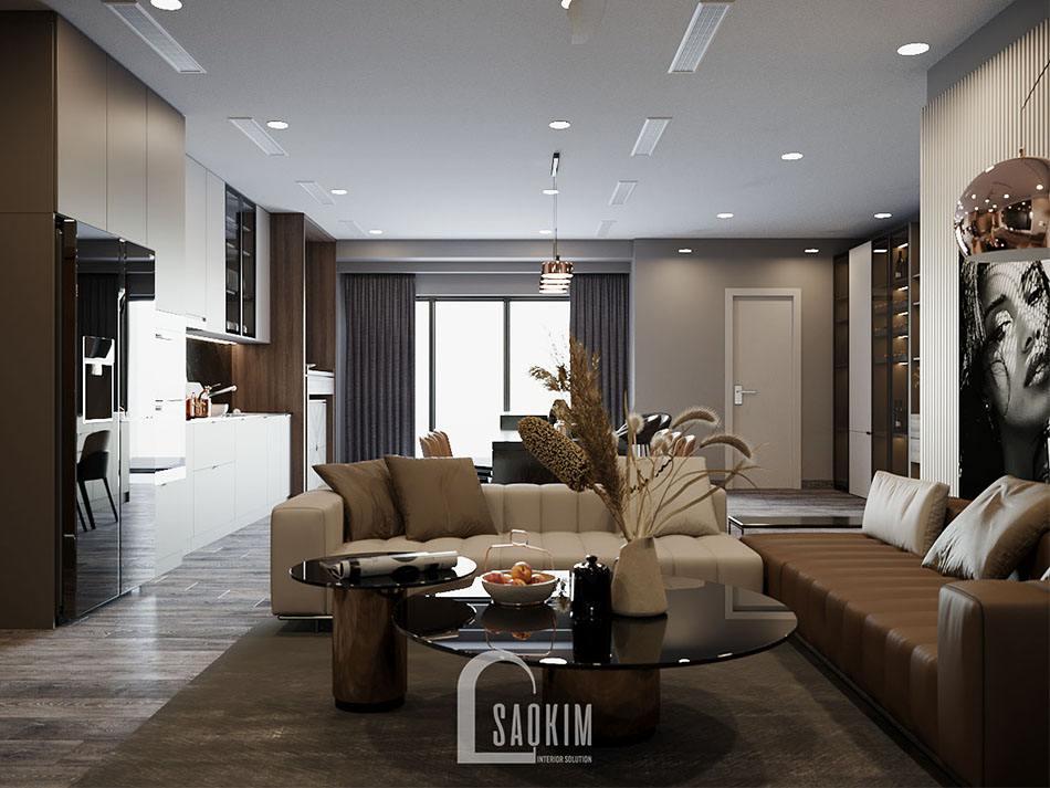 Thiết kế phòng khách chung cư cao cấp theo phong cách hiện đại