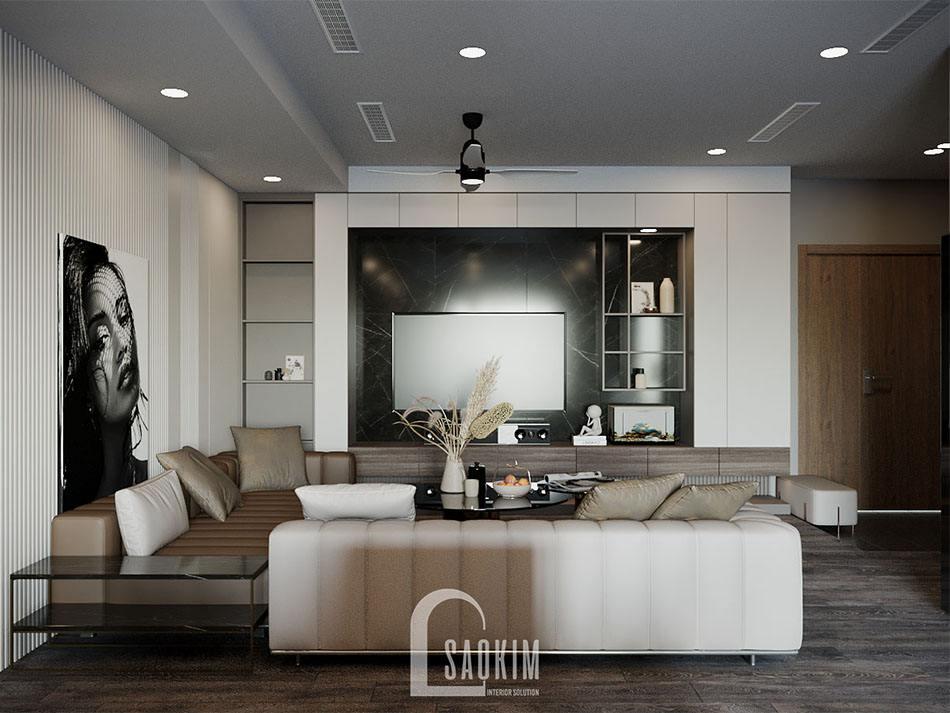 Thiết kế nội thất căn hộ chung cư cao cấp TTTM Chợ Mơ
