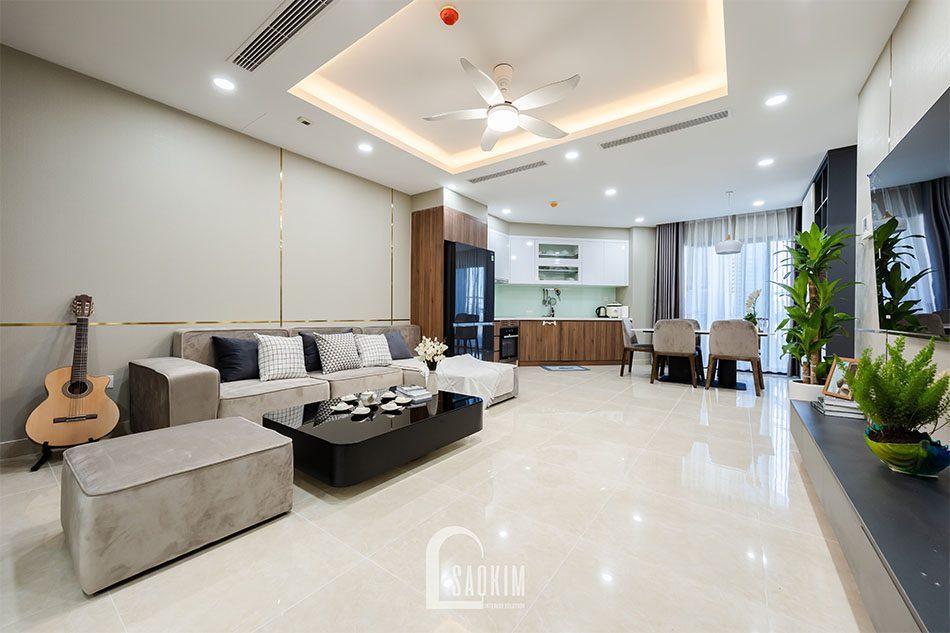 Hoàn thiện thi công nội thất chung cư 80m2 Golden Park