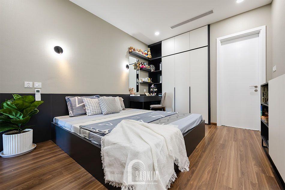 Hoàn thiện thi công phòng ngủ chung cư 80m2 Golden Park