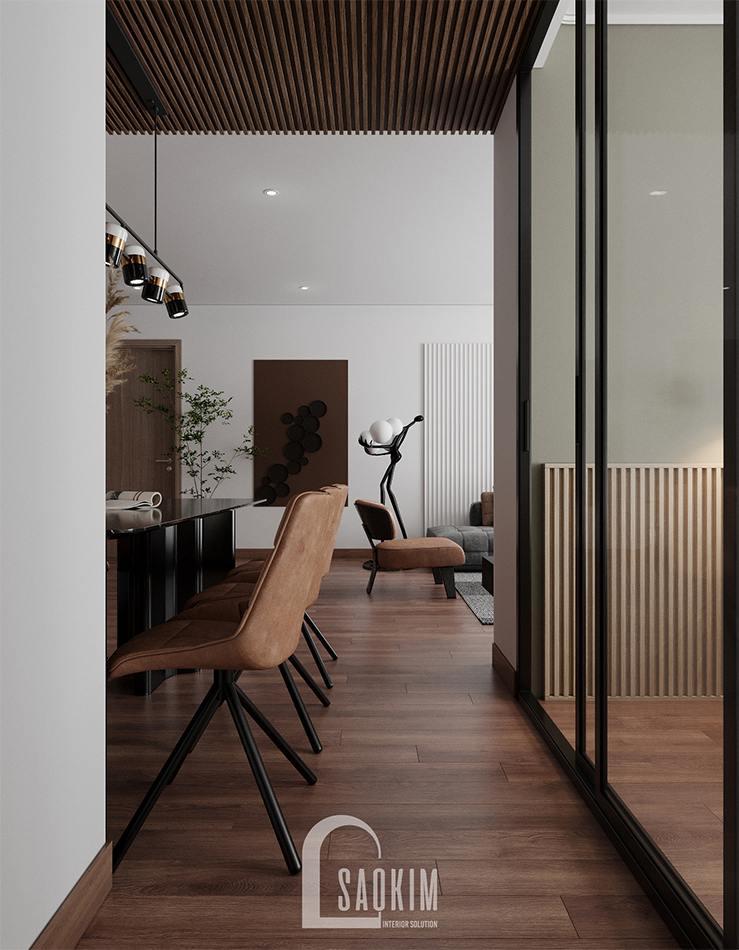 Thiết kế nội thất chung cư 110m2 Emerald Center Park Mỹ Đình