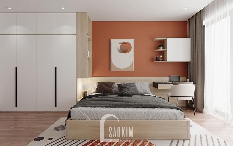 Thiết kế nội thất phòng ngủ master chung cư 110m2 Emerald Center Park Mỹ Đình