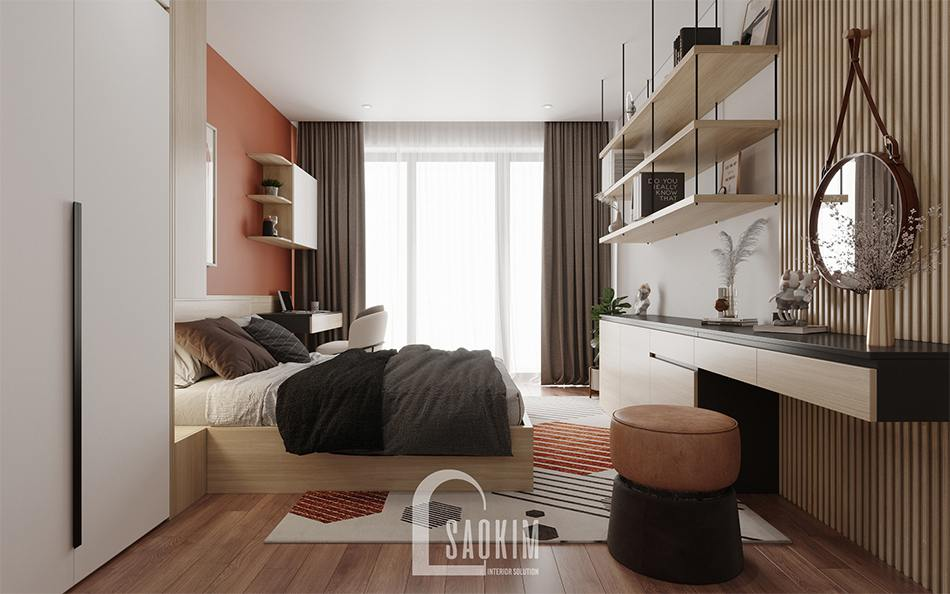 Thiết kế nội thất phòng ngủ master chung cư