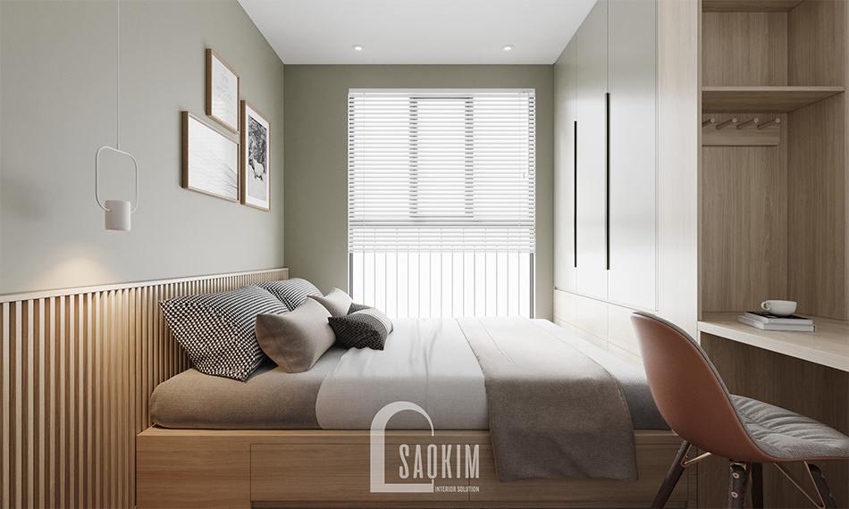 Thiết kế phòng ngủ của ông bà với gam màu nhẹ nhàng, dịu mắt