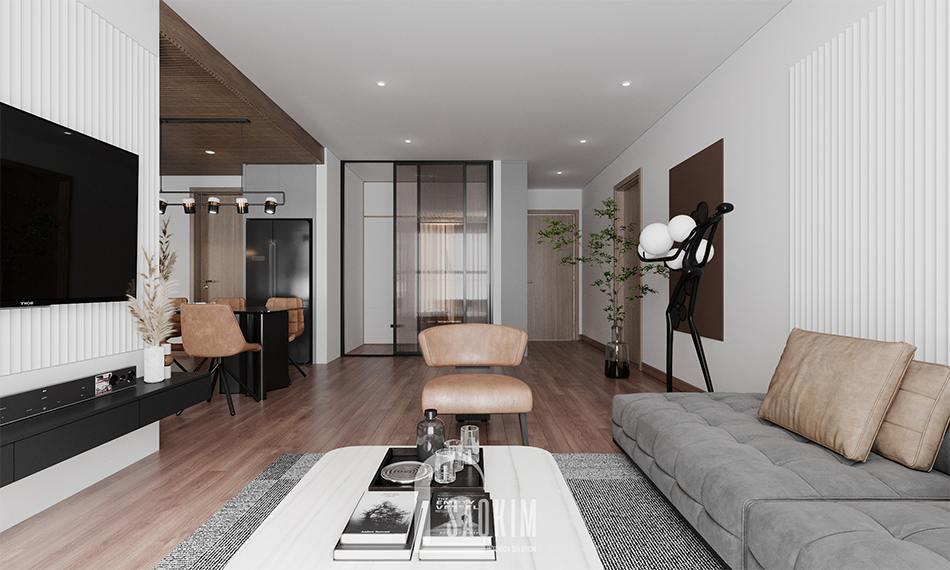 Thiết kế nội thất căn hộ chung cư 110m2 3 phòng ngủ