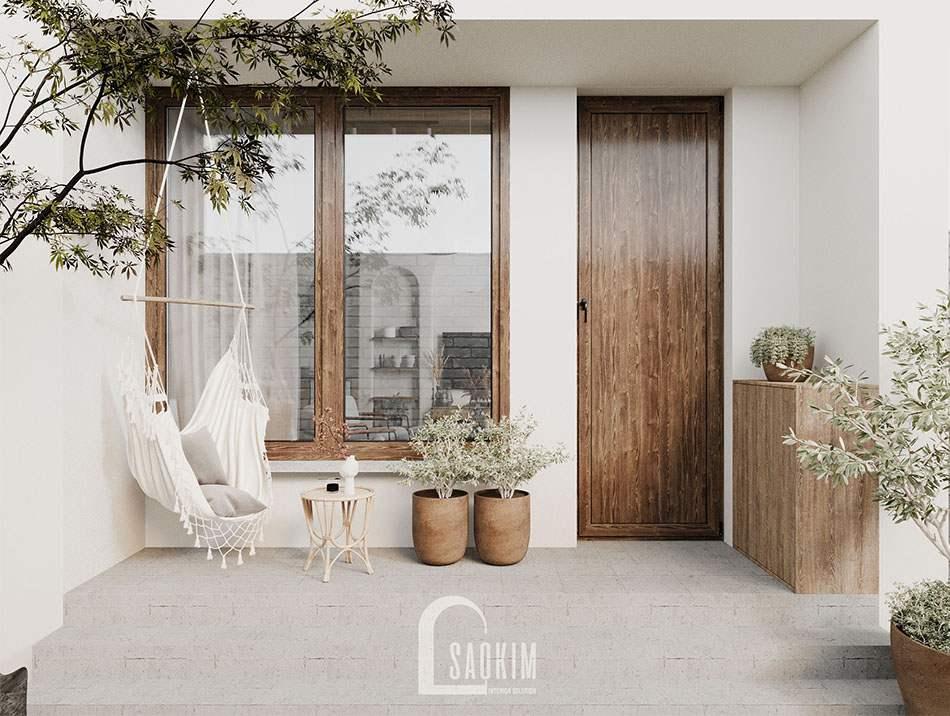 Thiết kế căn nhà nhỏ 58m2 ở Hà Nam theo phong cách Wabi Sabi để tận hưởng kỳ nghỉ cuối tuần