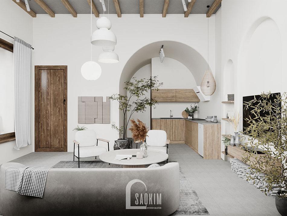 Thiết kế căn nhà nhỏ 58m2 mang vẻ đẹp mộc mạc, nguyên sơ