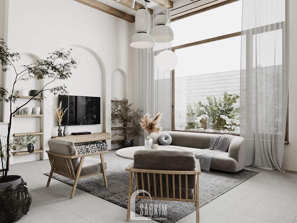 Thiết kế nhà phong cách Wabi Sabi ngập tràn ánh sáng tự nhiên