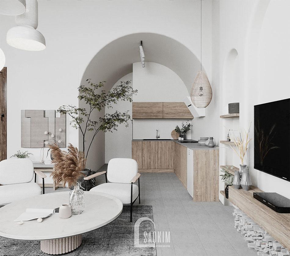 Thiết kế căn nhà nhỏ 58m2 mang vẻ đẹp nhẹ nhàng, cuốn hút