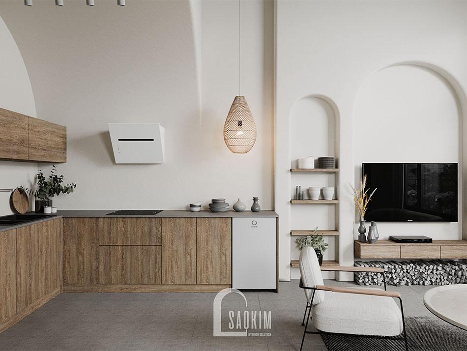 Căn bếp thiết kế tối giản nhưng vẫn toát lên vẻ đẹp cuốn hút