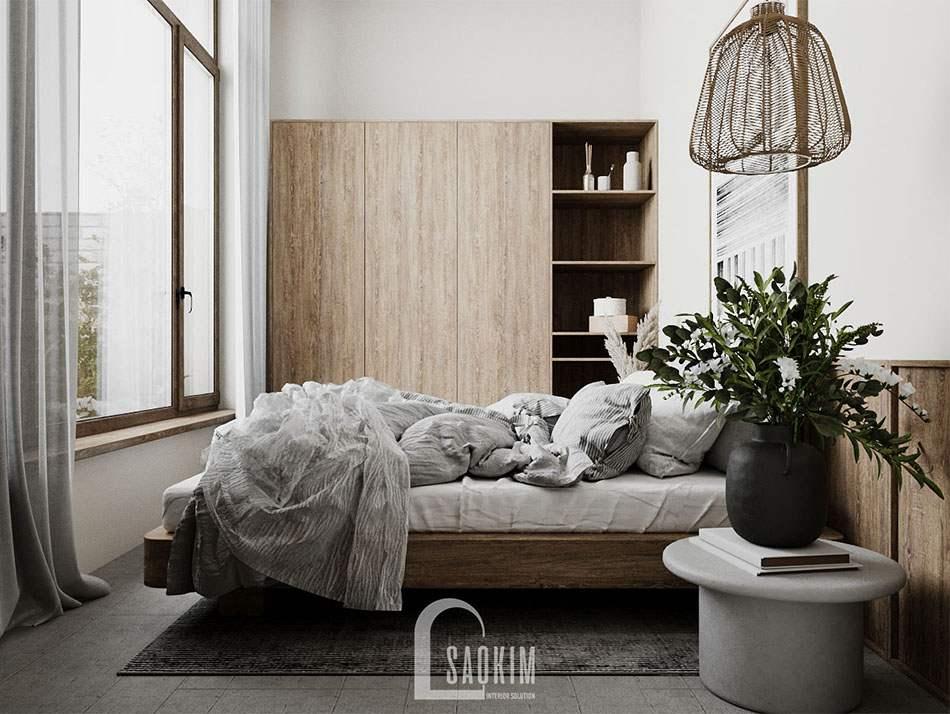 Thiết kế căn nhà nhỏ 58m2 ở Hà Nam với không gian phòng ngủ cực chill cho ngày cuối tuần và những kỳ nghỉ