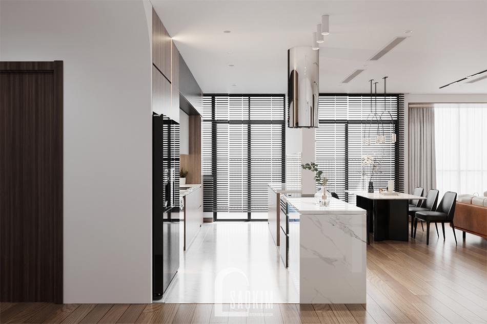 Thiết kế phòng bếp chung cư 3 phòng ngủ The Zen Gamuda
