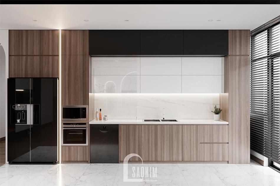 Thiết kế phòng bếp chung cư The Zen Gamuda theo phong cách hiện đại