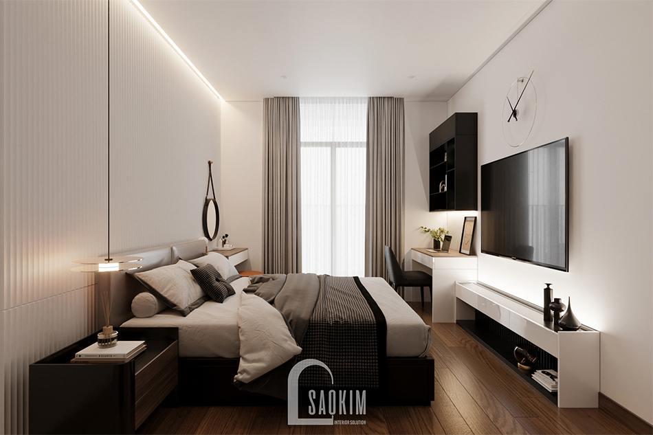 Thiết kế phòng ngủ master chung cư The Zen Gamuda theo phong cách hiện đại