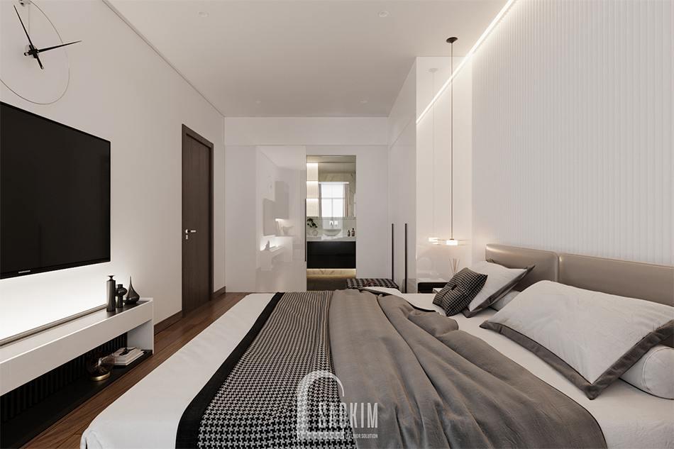 Thiết kế phòng ngủ master chung cư The Zen Gamuda