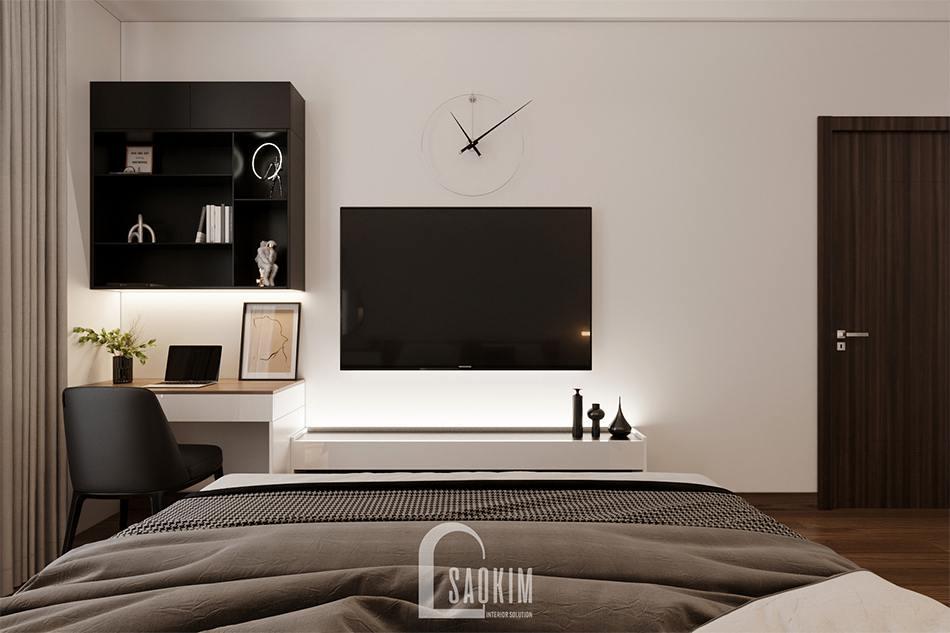 Thiết kế phòng ngủ master chung cư theo phong cách hiện đại