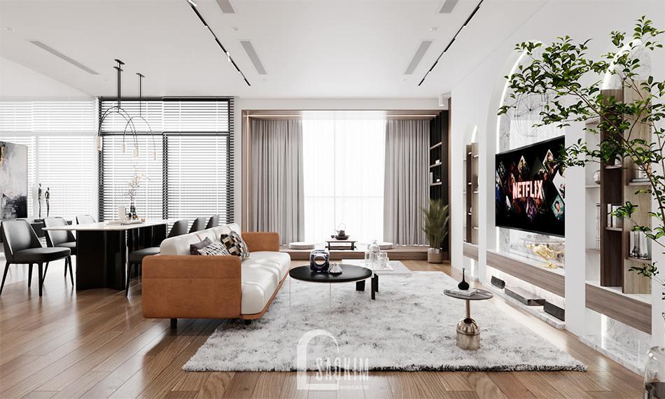 Thiết kế nhà chung cư 3 phòng ngủ The Zen Gamuda theo phong cách hiện đại