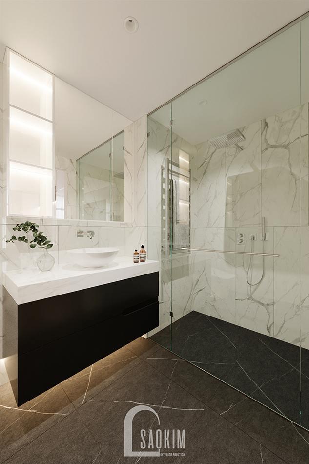 Thiết kế phòng tắm chung cư 3 phòng ngủ The Zen Gamuda