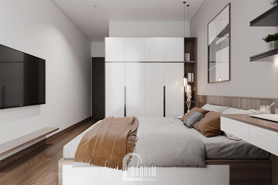 Thiết kế phòng ngủ cho khách chung cư The Zen Gamuda mang vẻ đẹp hiện đại, gần gũi