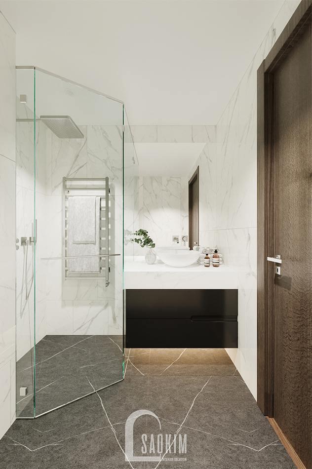 Thiết kế phòng tắm trong phòng ngủ khách chung cư