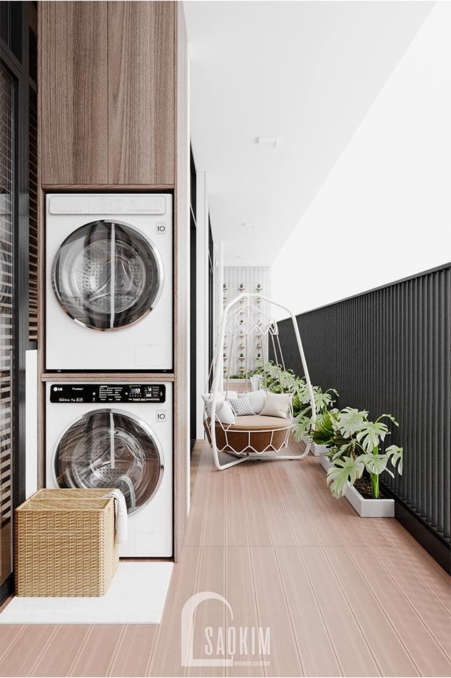Thiết kế logia chung cư The Zen Gamuda mang đến không gian thư giãn lý tưởng