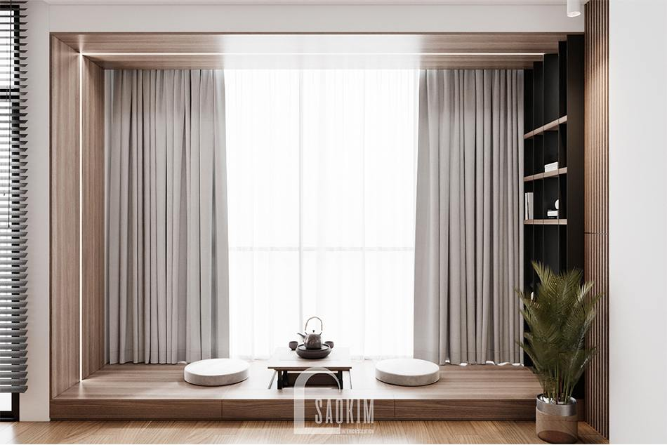 Không gian trà đạo thu nhỏ theo phong cách Nhật Bản trong căn hộ chung cư