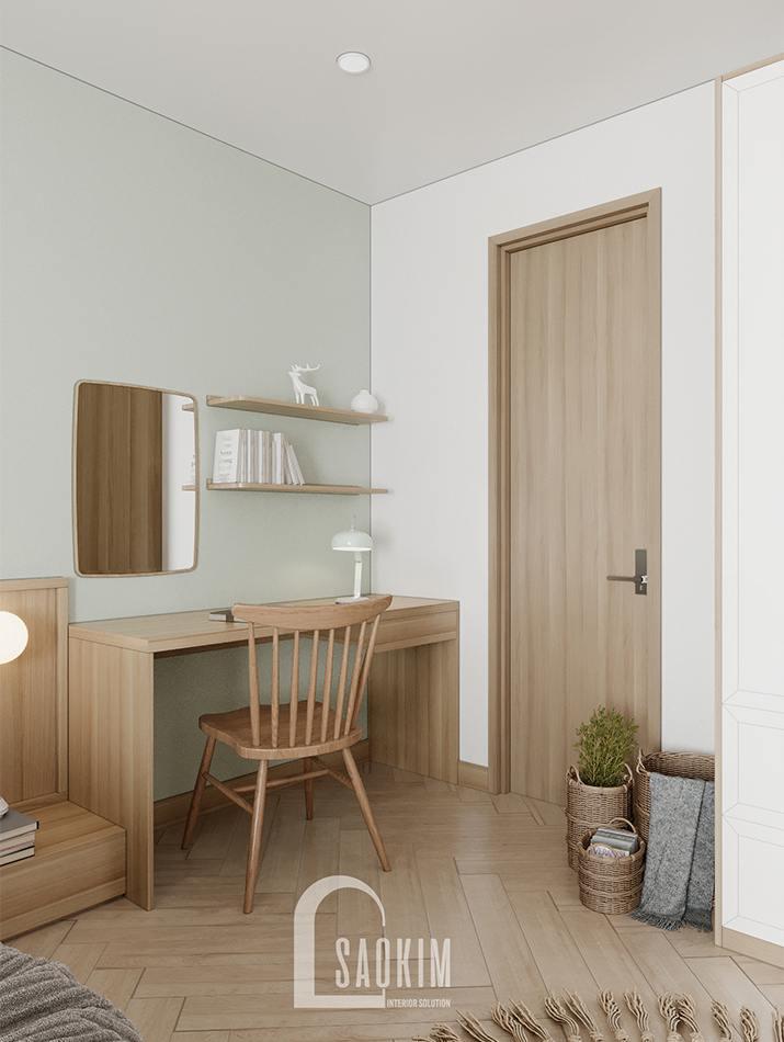 Thiết kế nội thất chung cư 90m2 bàn giao thô dự án Thiên Niên Kỷ (TSQ)