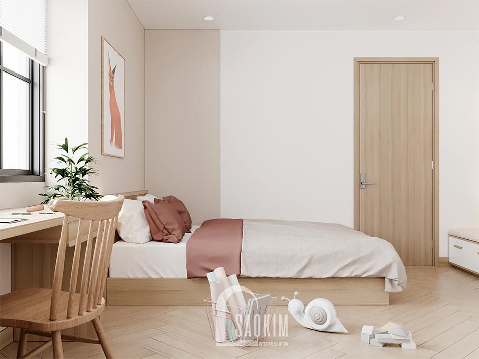 Thiết kế phòng ngủ cho bé chung cư 90m2 bàn giao thô dự án Thiên Niên Kỷ (TSQ)