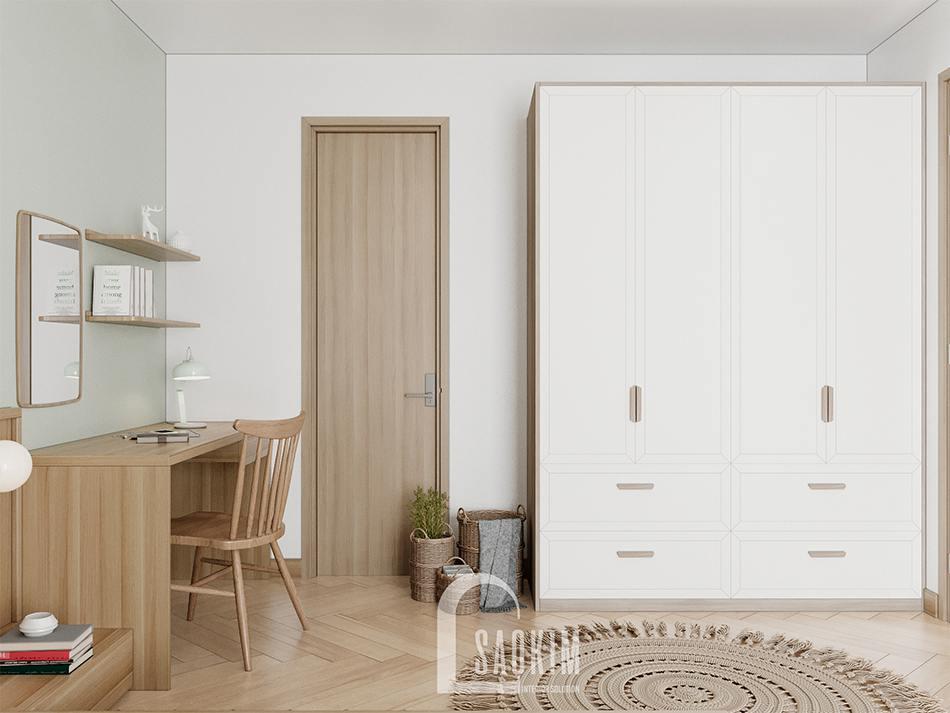 Thiết kế chung cư bàn giao thô dự - phòng ngủ master