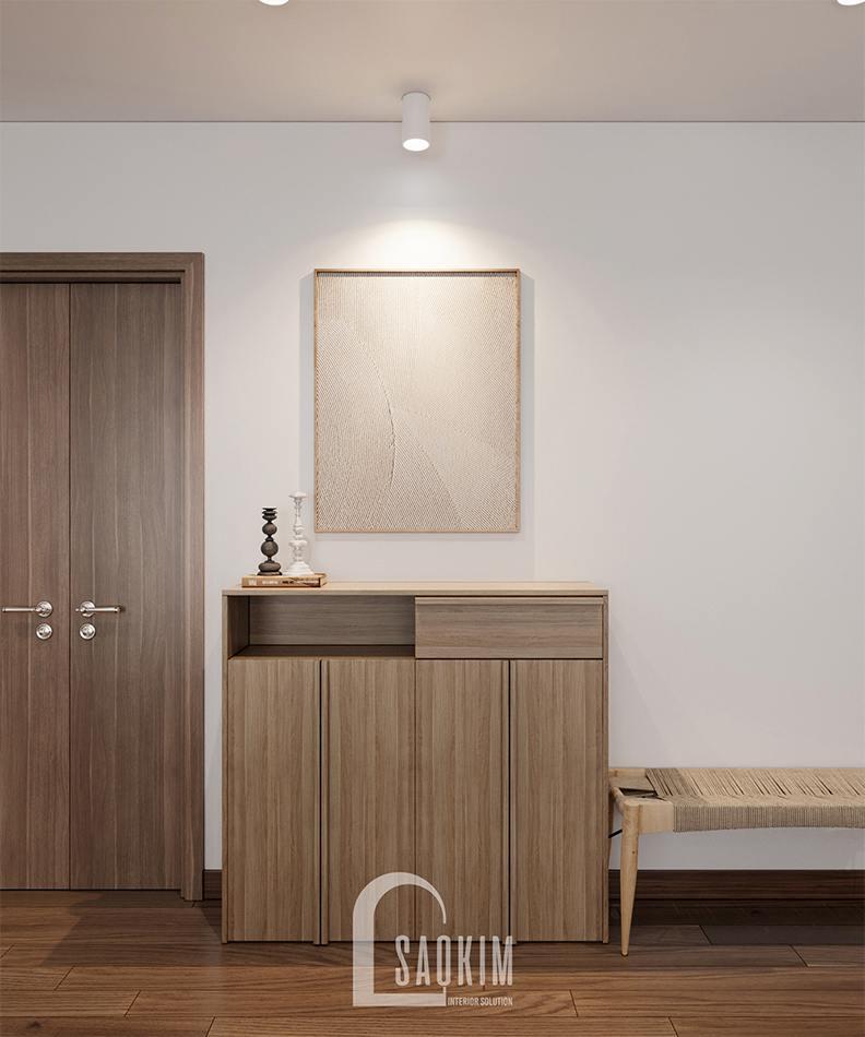 Phong cách nội thất Wabi Sabi cho chung cư 3 phòng ngủ