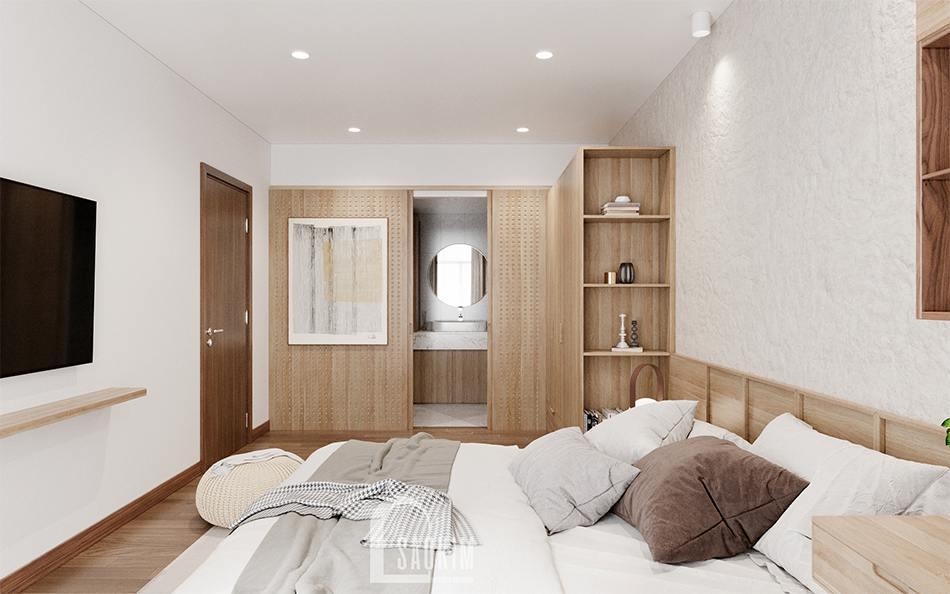 Thiết kế nội thất phòng ngủ master đẹp theo phong cách của người Nhật