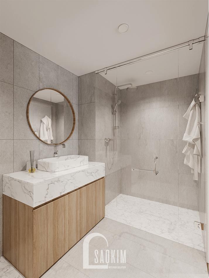 Thiết kế nội thất phòng tắm ngủ master chung cư The Zen Gamuda 157m2